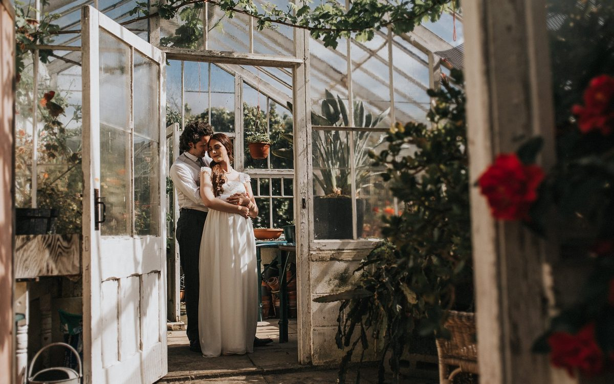 Braisty Estate Wedding Photographer | Romantic Greenhouse Wedding Inspiration
